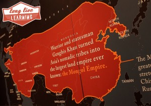 Genghis Khan Exhibit Map