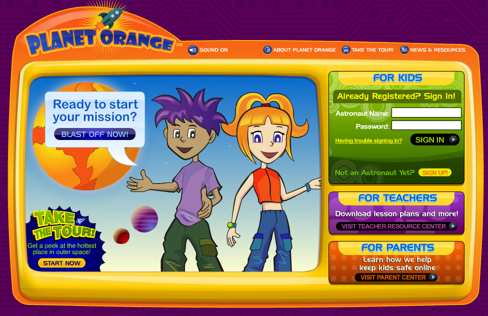 Orange Kids! Website for Kids Money & Finances