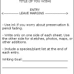 Nature Journal: Printable Format Reminder