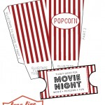 Movie Night Pack, Popcorn Box + Movie Tickets