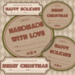 Red & Green Holiday & Christmas Gift Tags Printable