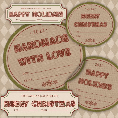 Red & Green Gift Tag Preview