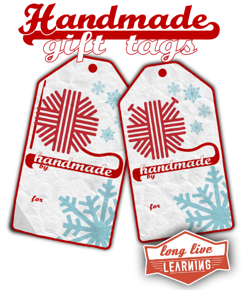 Printable Gift Tags For Handmade Crochet & Knit Gifts