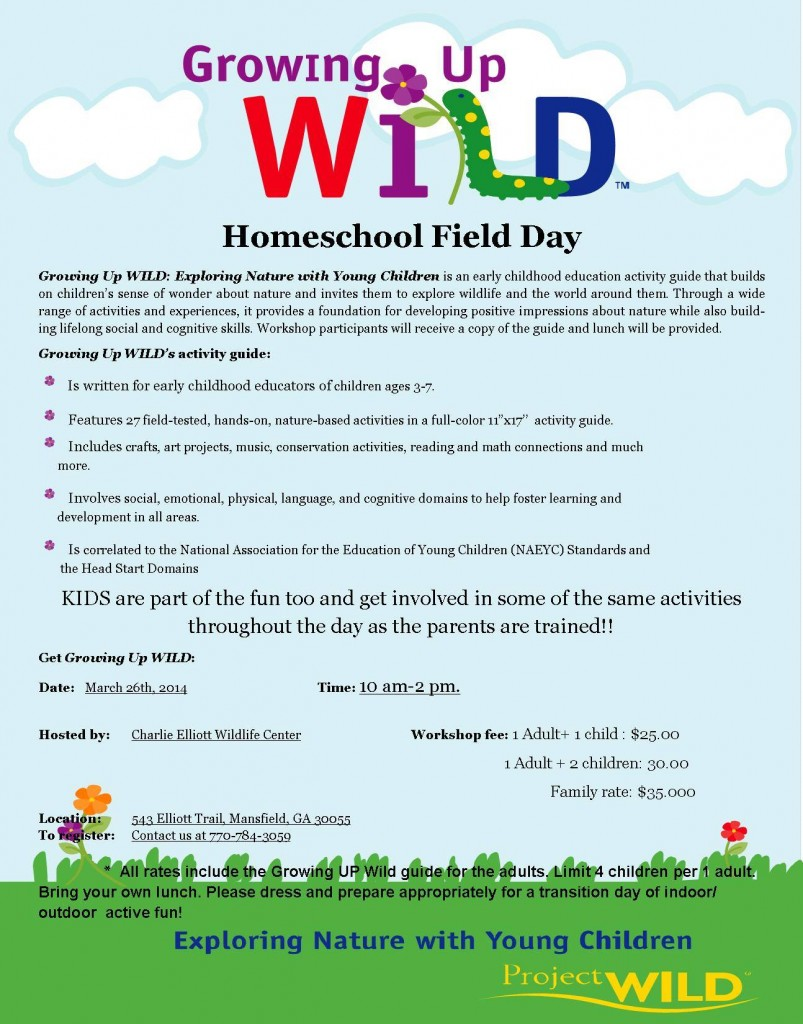 Charlie Elliot Wildlife Center Homeschool Field Day