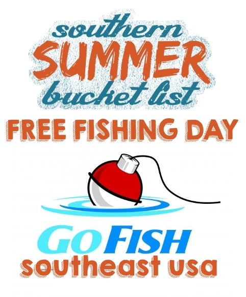 Go fishing on free fishing day jun 7 2014 for Free fishing day