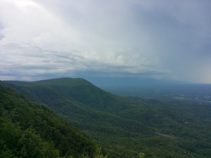 First Look from Fort Mountain Overlook