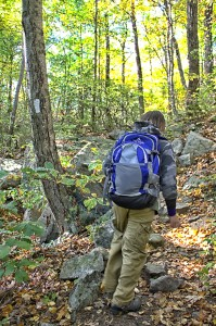 J Bear, wearing his Teton Hydration Backpack on the Appalachian Trail