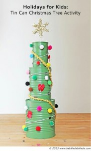 Recycled Xmas | Tin Can Christmas Tree