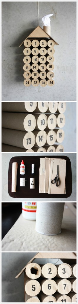 Recycled Xmas | Toilet Paper Roll Advent Calendar