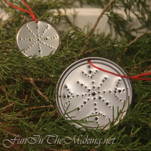 Recycled Xmas | Punched Tin Ornament