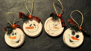 Recycled Xmas | Lid Ornaments
