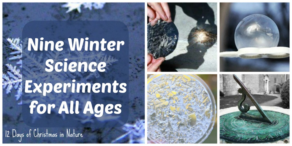 Nine winter science experiments