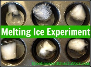 Melting Ice Science Experiment