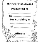 Kids 'My First Fish' Award Coloring Printable