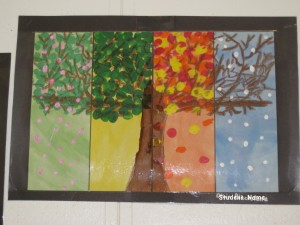 Four Seasons Tree Art for Nature Journal